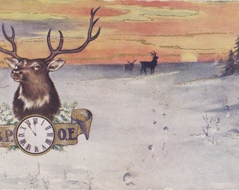 Benevolent and Protective Order of the Elks- 1900s Antique Postcard- 11 O'clock Hour of Reflection- BPOE Fraternal Memorial- Paper Ephemera