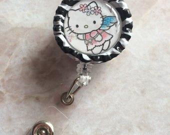 Hello kitty angel badge holder