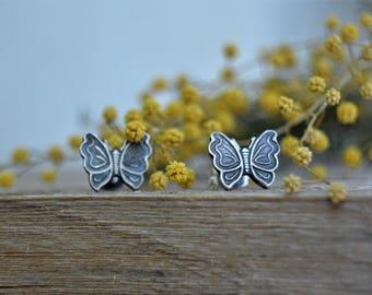 Tiny stud earrings. Teeny tiny earrings. Junior bridesmaid gift. Minimal jewelry. Nature jewelry. Minimal earrings