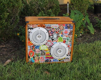Vintage Guitar Speaker Cabinet with Kenwood Speakers, Very Well Made, Removable Front, Easily Modified, Handmade