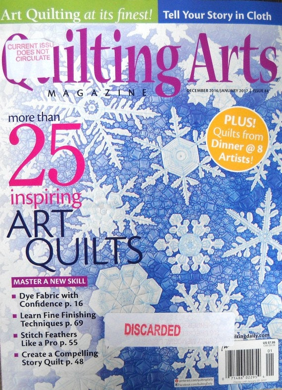 Quilting Arts Magazine December 2016 January 2017 Issue 84 : quilting artists - Adamdwight.com