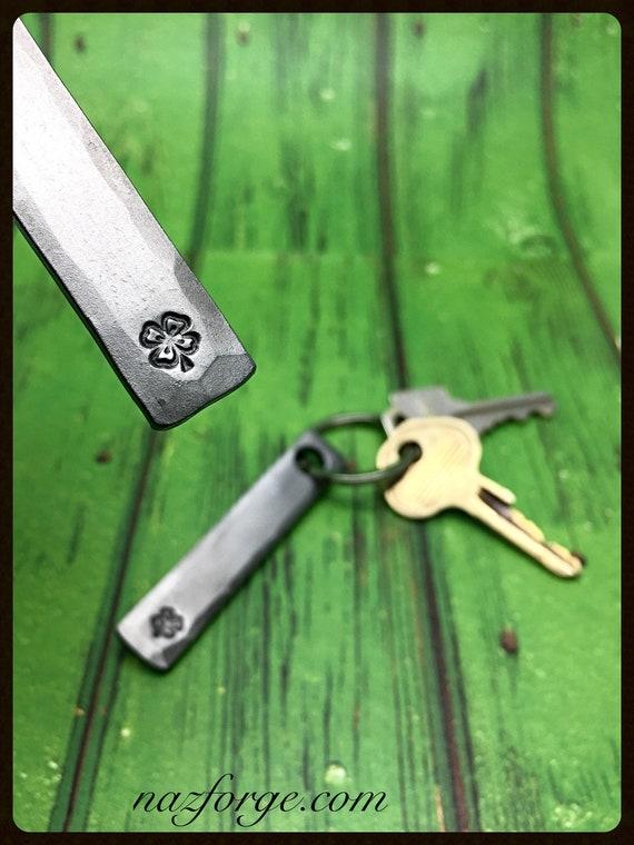 SHAMROCK 4 LEAF CLOVER Keychain - Personalization Option Available - St Patrick's - Ireland - Irish - Unisex Personalized Gift - Hand Made