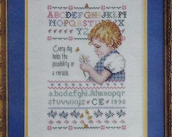 Cross Stitch Pattern | SPRING SAMPLER | Carol Emmer | Child Sampler | Counted Cross Stitch Pattern | fam