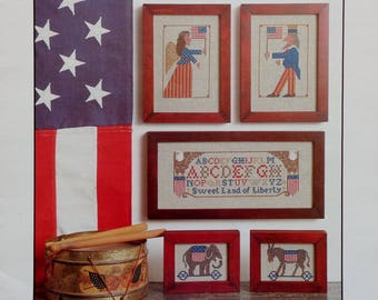 Cross Stitch Pattern | AMERICAN PRIMITIVE | The Prairie Schooler | Book No. 8 | Counted Cross Stitch Pattern | Out Of Print
