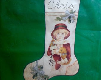 Jan Hagara | CHRIS | Christmas Stocking | Needle Treasures | Stitchery Kit | Crewel | Stitchery | Needlework | Embroidery Kit