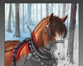 The World of Horses 36-image Grayscale PDF Adult Coloring Book