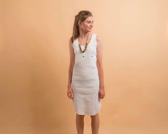 Minimalist Ribbed T-Shirt Dress / Vintage 80s Dress / Minimal T-Shirt Dress / Ribbed Dress Δ size: XS/S