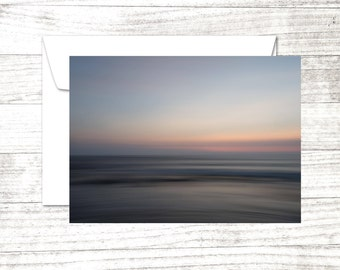 Bali Sunset Note Card | impressionist photograph | Greeting Card | Card for beach lover | Beach House | Thank You
