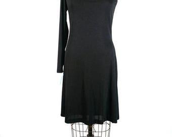 CLEARANCE SALE beatrice | one shoulder party dress | vtg 1970s dress | vtg 70s cocktail dress | new old stock | medium