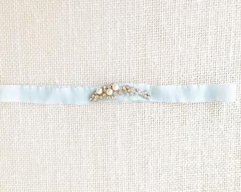 JANE - Something Blue Bridal Wedding Garter