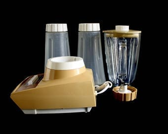 Sears Blender Harvest Gold 1970s Kitchen Appliance, Glass Blender Jar Triangular 7 Speed (Hamilton Beach twin) 400.829002 Replacement Part
