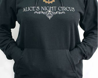Alice's Night Circus Hoodie Steampunk Cog Heart Steampunk Music