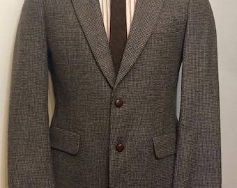 Vintage MENS Stafford grey wool tweed jacket, sport coat or blazer, size M