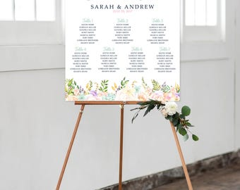 Digital Seating Chart - Dreamy Garden (Style 0036)