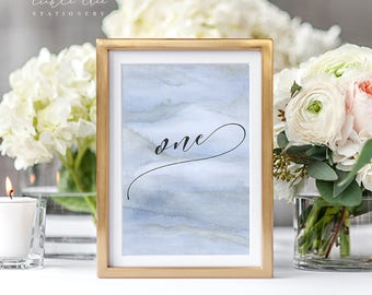 Reception Table Numbers - Blue Shores (Style 13761)