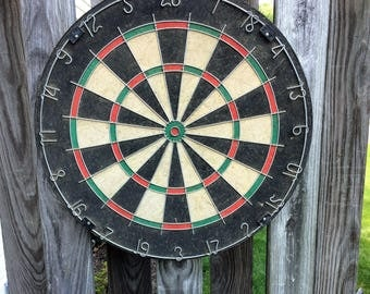 Vintage Dart Board 18 inches Diameter 1 1/2 inch Wide