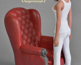 1/6th scale female white leggings for collectible poseable figure dolls such as Phicen female