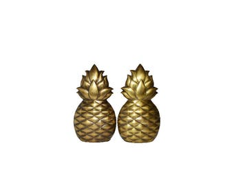 Pineapple Bookends Brass Pineapple Bookends Art Deco Bookends Ananas Pina Art Deco Pineapples