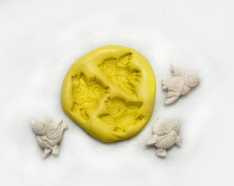 Angel mold , angle silicon mold, Silicone mold ,push mold, food supplies mold, clay supplies molds, # 297  s