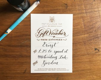 Gift Voucher - Meticulous Ink