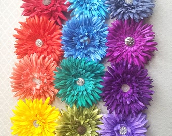 Daisy Hair Flower Clip & Pin - 19+ Colors/Styles!
