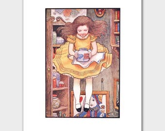 "Jump! Alice in Wonderland Art Print --- ""Orange Marmalade"" Print No. 12"