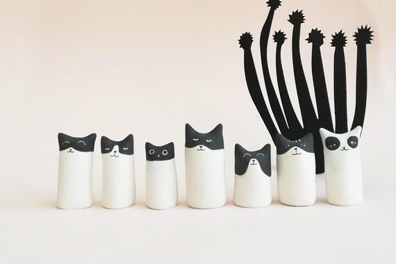 Super Cat Small miniature Pastel in Clay