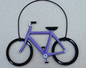 Bicycle Ornament--Lavendar/Party Favor/Gift Tag -- OV24