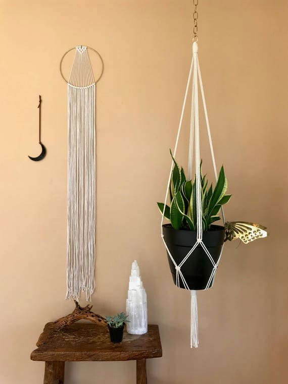 "Macrame Plant Hanger - 60"" Simple"