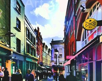 London streets, London England, UK, Great Britain, central London, European street scene, downtown London, European street scene, United Kin