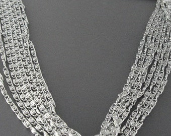 Vintage Silver Tone Cascade /Multi Chain Necklace Sarah Coventry