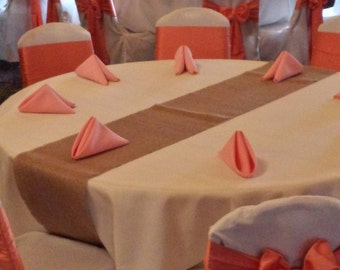 "12"" Wide Burlap Table Runners"
