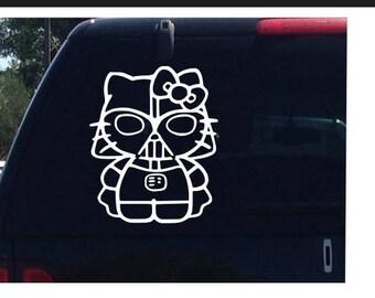 Darth Vader Hello Kitty Star Wars Car Decal