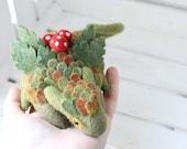 Forest dragon, Needle felted creature, Fantasy fairy dragon figurine