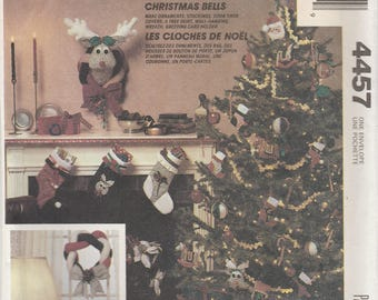 Vintage Christmas Decor Pattern McCalls 4457 Uncut