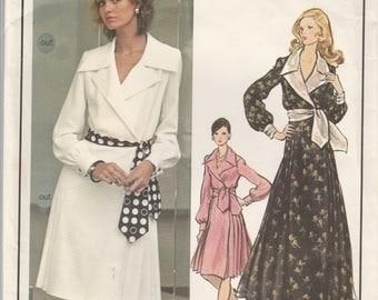 Yves Saint Laurent Wrap Dress Pattern Vogue Paris Original 2729 Size 14 Uncut