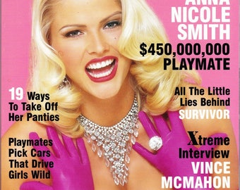Vintage Playboy Magazine February 2001 with Anna Nicole Smith, Lauren Michelle Hill, Vince McMahon, Sela Ward, Surfer Girl, Amy Cobb
