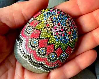 galaxy / painted stones/painted rocks/paperweights/boho art/hippie art/ dot rocks/ dot art/ items for altars / altar art/ meditation stones