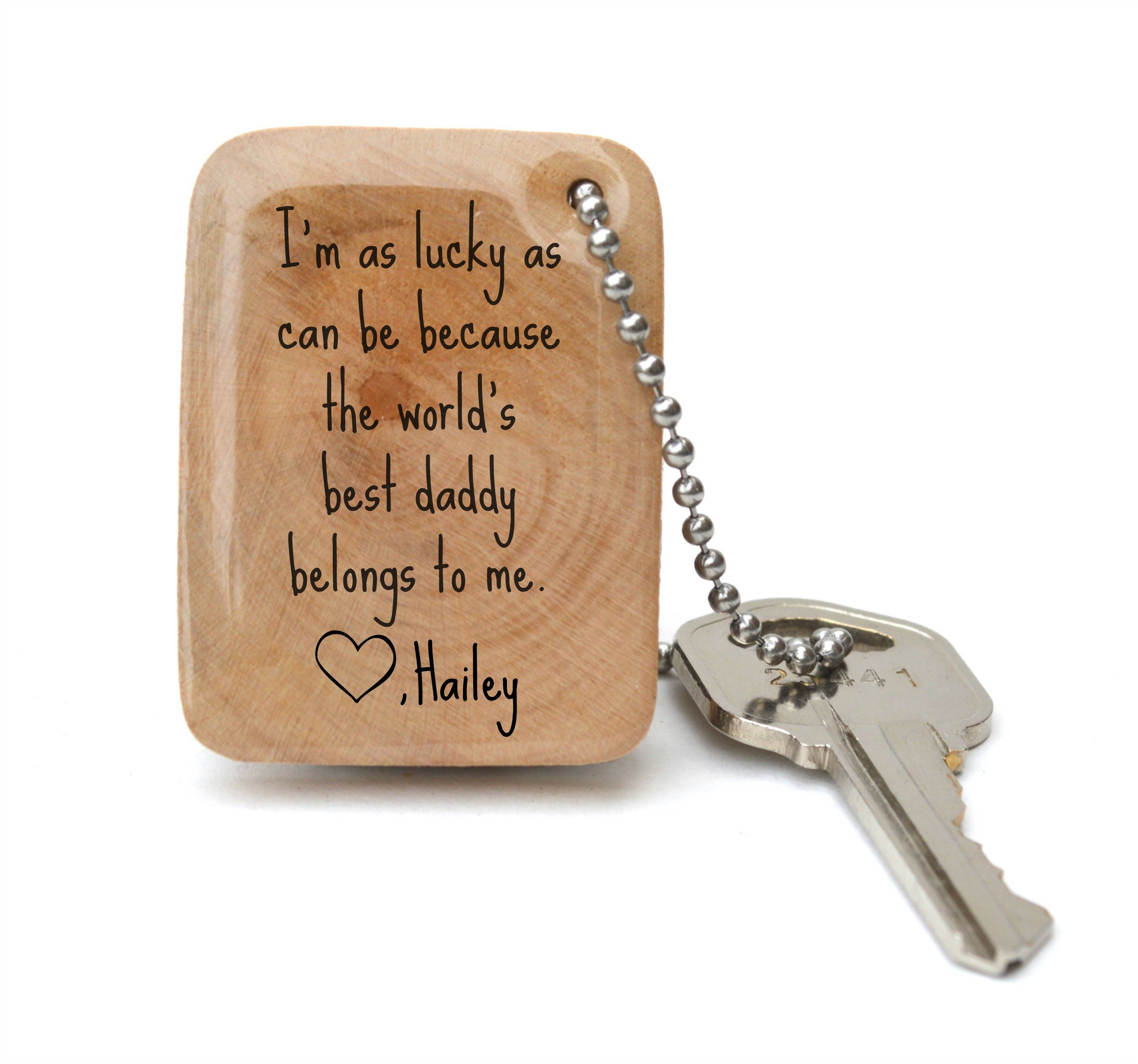 personalized gift for dad keychain personalized dad gift