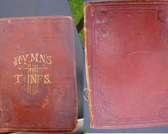 Rare Find - 1886 The Seventh-day Adventist Hymn and Tune Book - Vintage book - Ephemera - Old Books