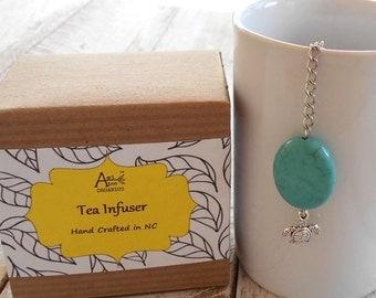 Turtle Tea Infuser, Beachy, Ocean, Coastal, Magnesite Stone, Honu, Good Luck, Navigator, Aumakua, Tea Lover Gift, Under 10 Dollars, Nautical