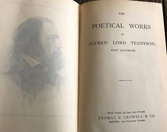Antique Poetry Book By Alfred Lord Tennyson - Antique Poem Book - Old Poetry Book - Tennyson's Poems Book - Alfred Lord Tennyson