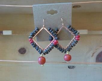 Coconut bead earrings