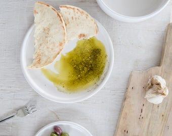 White dinner plate - Ceramic Handmade Plate - White Dinnerware