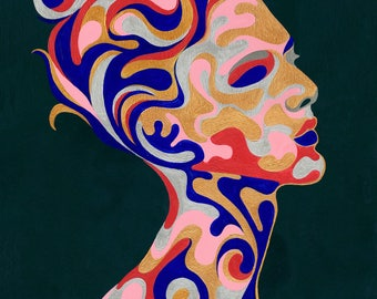 Mr. Bombastic dreamy metaphysical Canvas or Fine Art Print