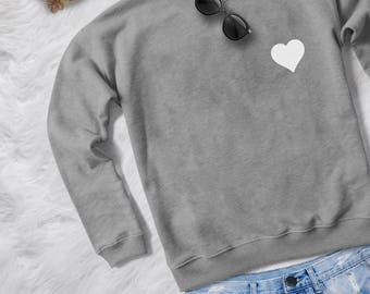 Hearts crewneck sweatshirt graphic sweater funny sweatshirts womens jumper tshirt tumblr sweaters hipster sweatshirt women tops