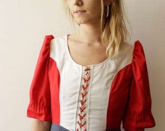 Adorable handmade 70s Dirndl- Small