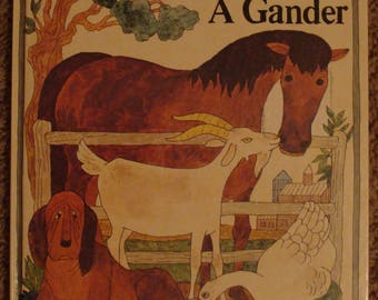 Alice and Martin Provensen book about Maple Hill Farm animals, A Horse and A Hound A Goat and A Gander, barnyard, farming, barn, farming