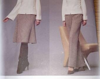 Vogue UNCUT Paris Original Guy Laroche Sewing Pattern Misses 2578 Jacket Skirt Pants Slacks 6 8 10 FF