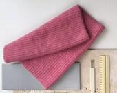 SALE Luxury Lambswool snood in *NOUGAT* pink